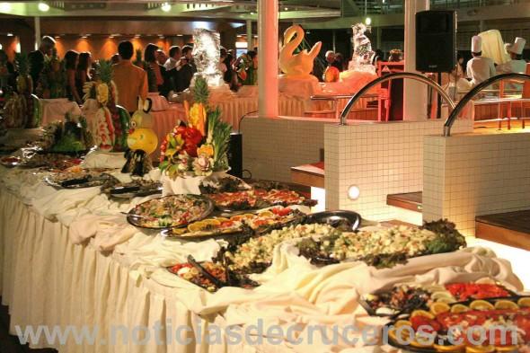 Los buffet de medianoche atentan contra una sana dieta.