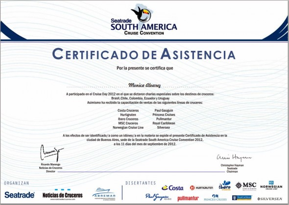 Certificado de Asistencia