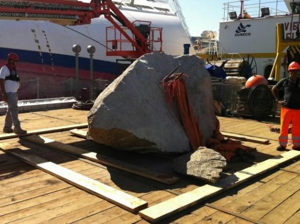 """La piedra """"Costa Concordia"""""""