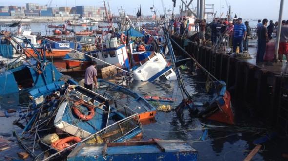 Pesqueros hundidos en Chile