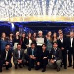José Mundo y el equipo de Costa Cruceros Argentina a bordo del Costa Favolosa