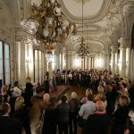 El salón del Centro Naval donde se festejaron los 15 años del Queen´s Club, de Secontur