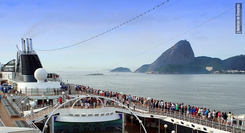 Cruceros todo el año llegando a Rio