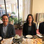 Frank Medina, Larissa Valero y Mariano Stabielli de Norwegian Cruise Line Holdings