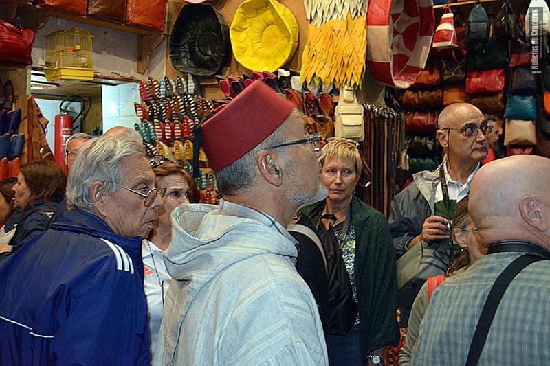 Tiendas en Fez, Marruecos