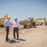 El Ministro Guillermo Dietrich y Gonzalo Mórtola recorriendo las obras del Puerto Buenos Aires