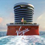 Popa de los barcos de Virgin Voyages