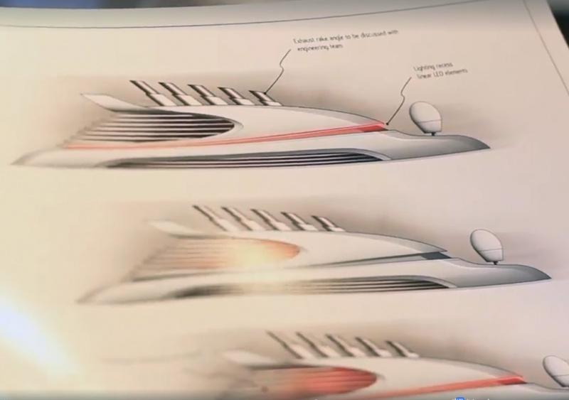 Dibujo del diseño de las nuevas chimeneas para Virgin