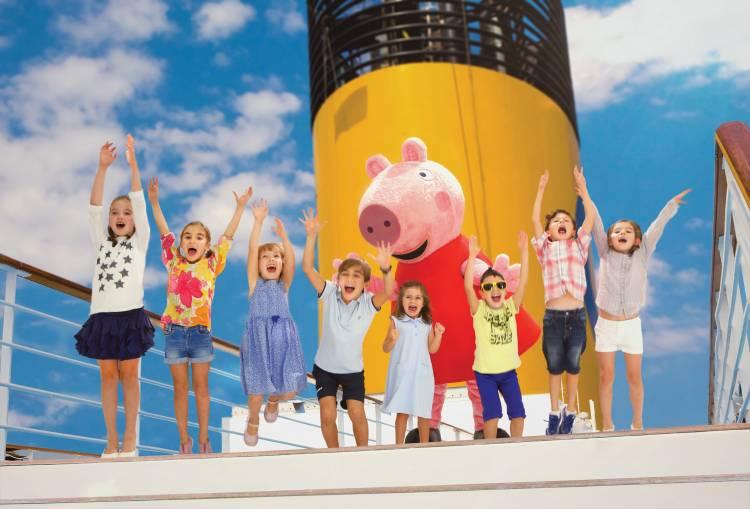 Peppa Pig tiene su propio espacio para los más chicos en el Costa Fascinosa