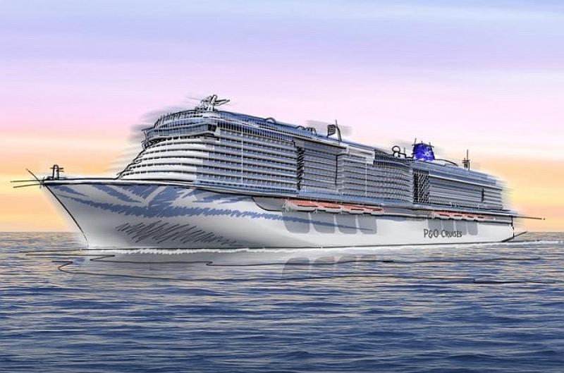 Croquis de la nueva nave a gas natural licuado de P&O Cruises