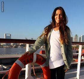 Salomé Areco a bordo del Zaandam