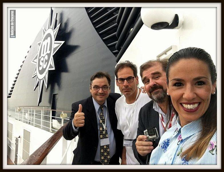 El equipo de NDC TV Juan Carlos Acero, Martín Leonetti, Ricardo Marengo y Salomé Areco