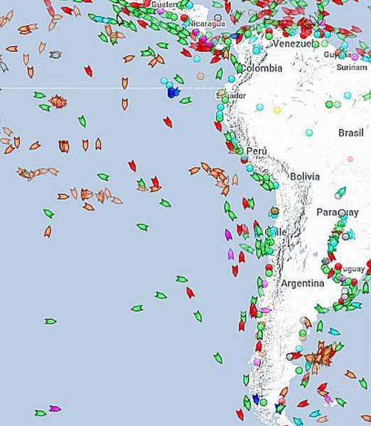 Ruta entre Chile y Panamá