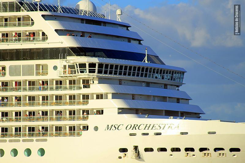 El MSC Orchestra, buque que cubrirá la temporada 2018/2019 desde el puerto de Buenos Aires