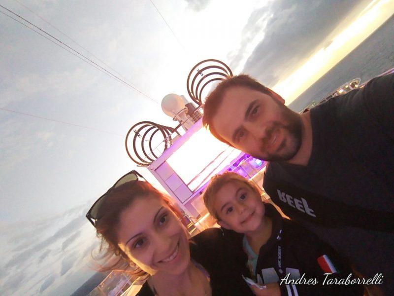 Estefanía, Vicky y yo