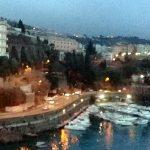 Savona al amanecer. El puerto final del viaje transatlántico en el Costa Fascinosa