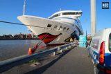 El AIDAaura amarrado en el Puerto de Buenos Aires