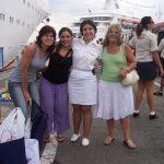 """Mariana Barrera en su """"vida anterior"""" como tripulante de cruceros."""