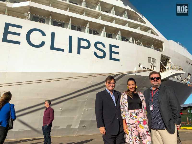 """Una parte del equipo de Noticias de Cruceros se movilizó hasta el Celebrity Eclipse gracias a una invitación de Organfur para conocer el """"Modern Luxury""""."""