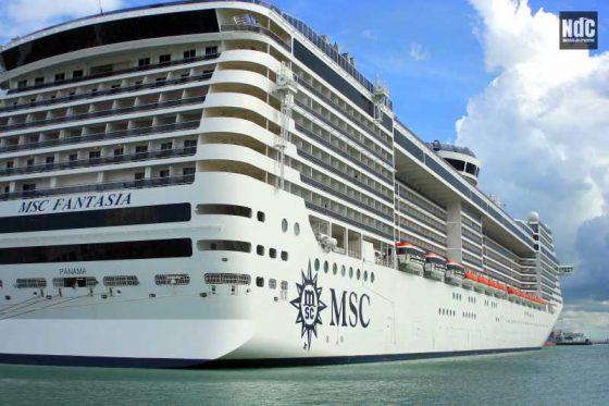 El MSC Fantasia, junto al Royal Princess y el Celebrity Eclipse son los barcos más grandes de la temporada en el Puerto Buenos Aires