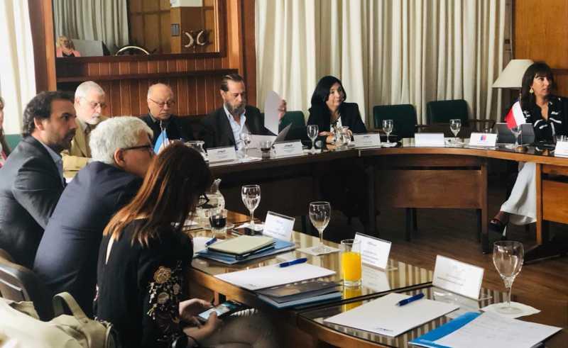 Reunión pro cruceros en la ANP con autoridades de Argentina, Chile y Uruguay