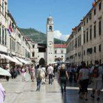 Turistas de cruceros en Dubrovnik