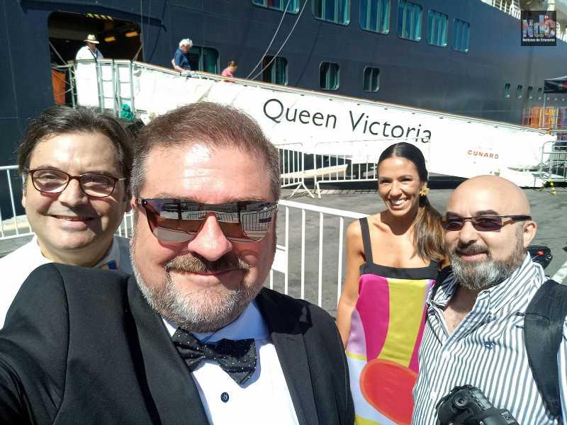Abordando la Reina de los mares, el Queen Victoria