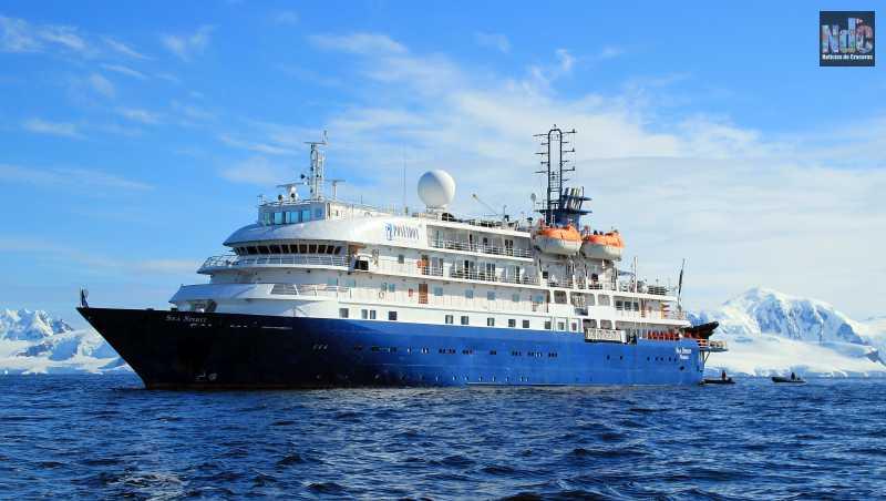 El Sea Spirit en la Antártida