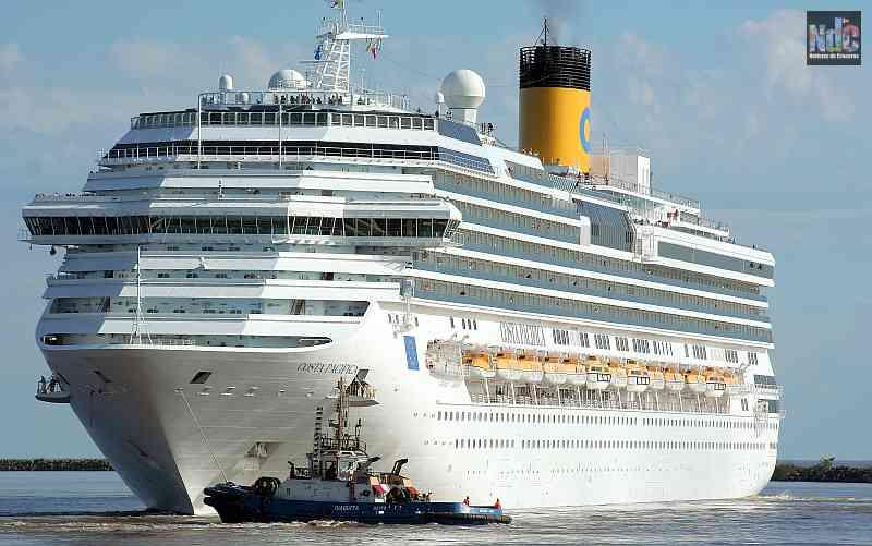 El Costa Pacifica será el barco de la temporada 20/21 desde Buenos Aires