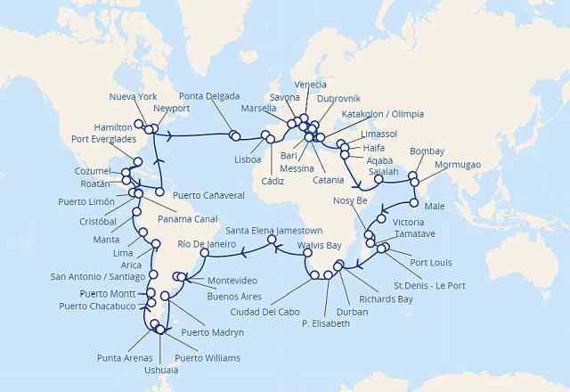 Habrá Cruceros Vuelta Al Mundo En 2021 Noticias De Cruceros